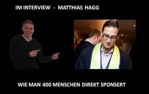 Interview - wie man über 400 Erstlinien sponsert