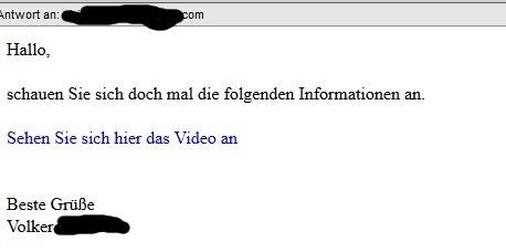Beispiel einer Spam-Mail
