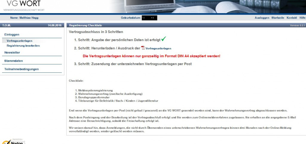 Verwertungsgesellschaft Wort München Registrierung
