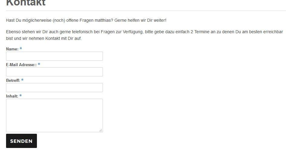 Wordpress Kontaktformular erstellen Plugin Contact Form 7