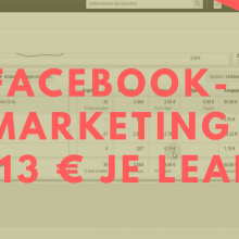 Facebookmarketing 0,13 € je Lead