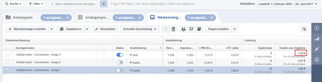 Facebook Anzeigen Kosten reduzieren
