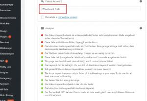 Wordpress SEO Optimierung
