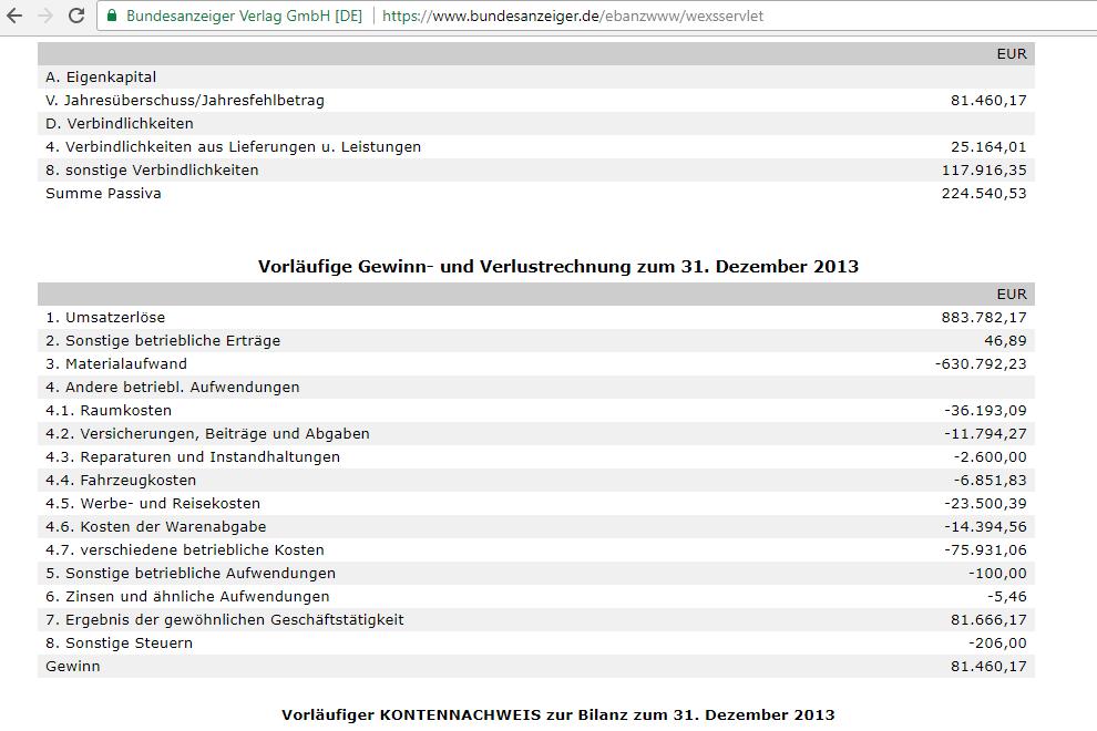 Deutsches Edelmetallhaus GmbH Bilanz bundesanzeiger de