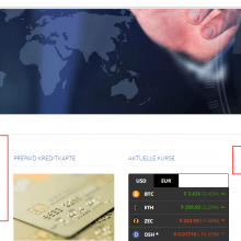 Cryptogold Webseite
