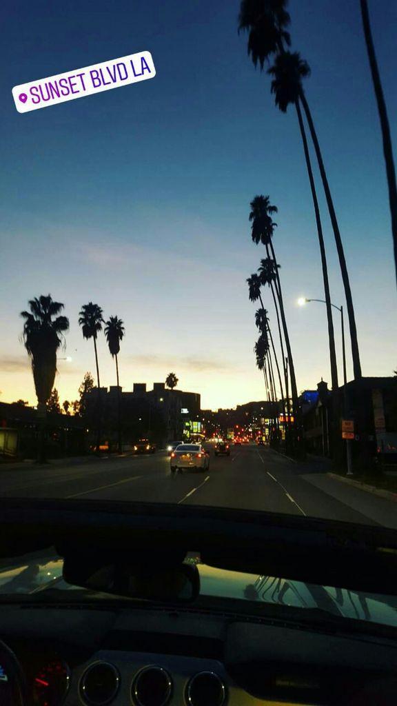 Cruisen bei Sonnenuntergang Kalifornien