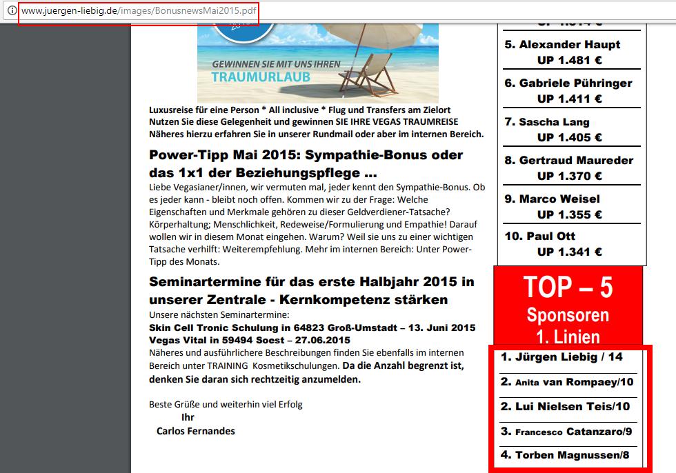 Top 5 Sponsoren Linien Jürgen Liebig Webseite