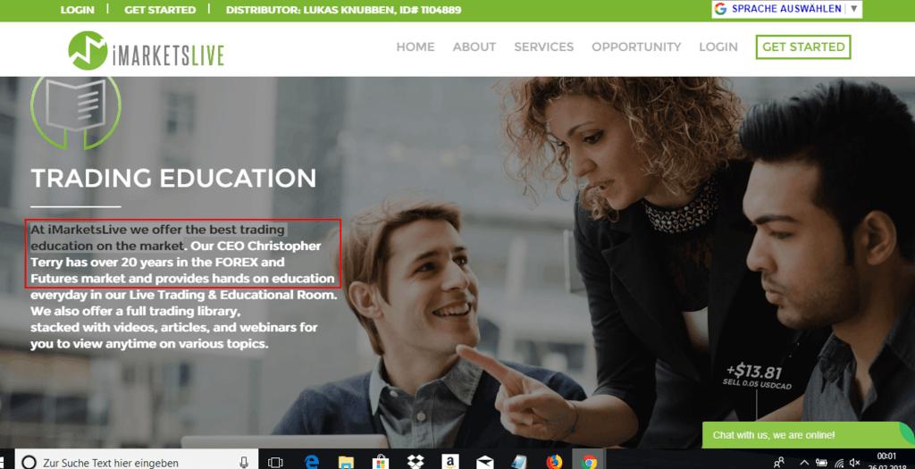 Imarketslive Erfahrungen Webseite