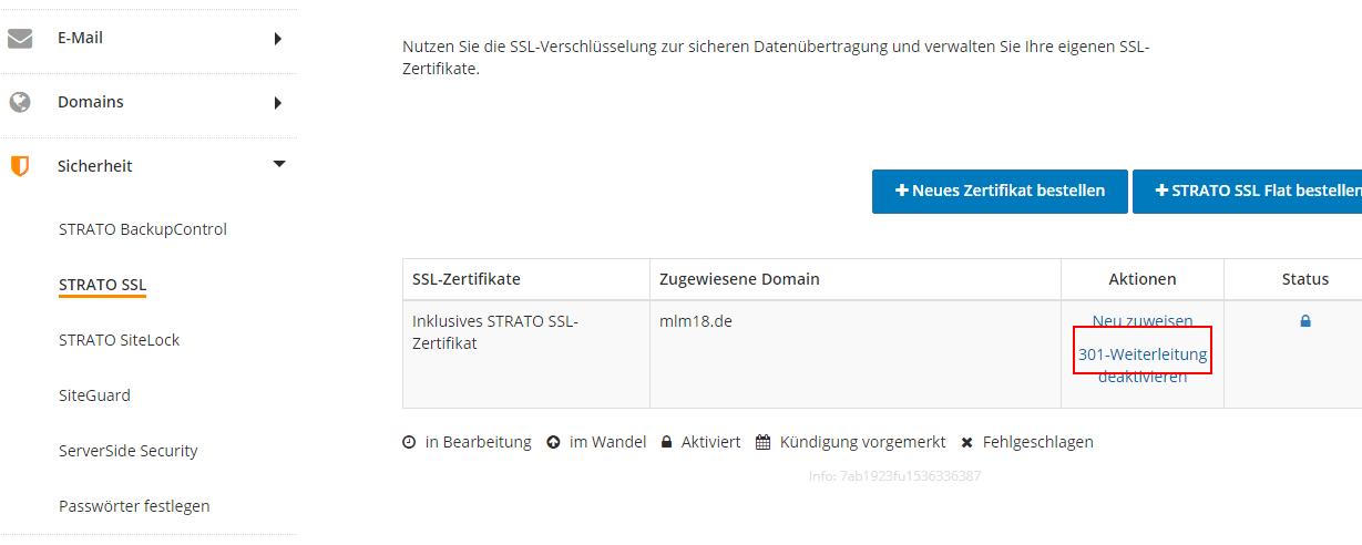 Http auf https umstellen Strato