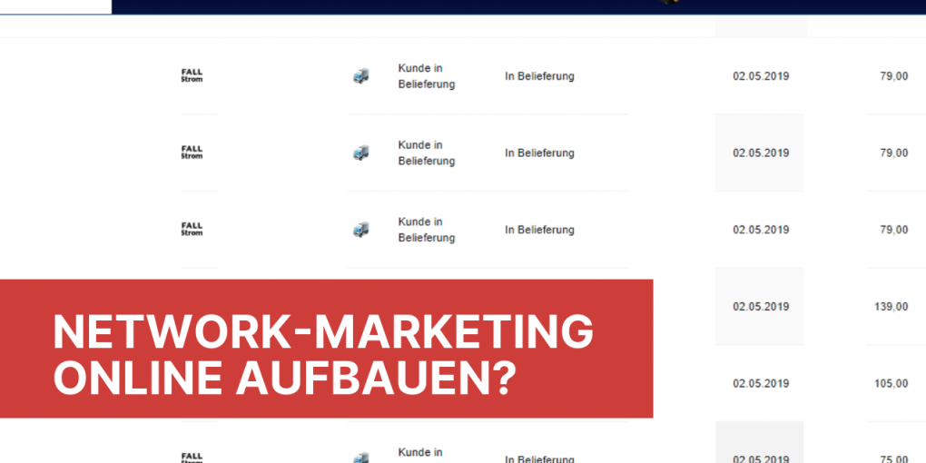 Network Marketing online aufbauen