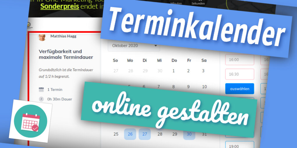 Terminkalender online gestalten