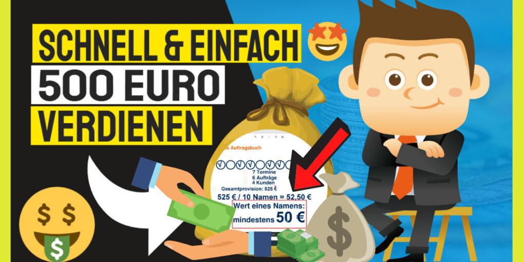 Schnell 500 Euro verdienen