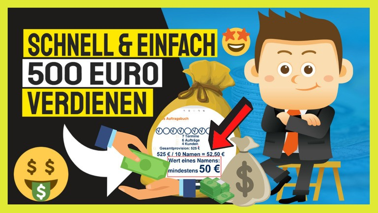500 euro sofort verdienen